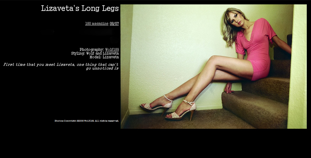 Wolf189 in 180 Magazine - Lizaveta's long legs